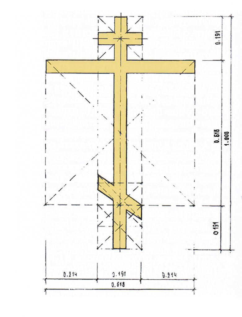 Пропорции православного восьмиконечного креста